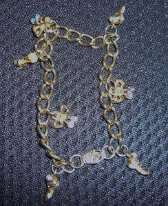 Vintage 'Pregnancy' Charm Bracelet, Gold-Plated, frm Birk's 1952