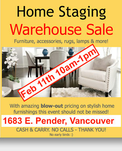 Home Staging Furniture: Warehouse Moving Sale