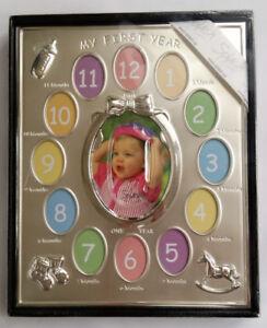 My First Year Baby Photo Frame Set Newborn Baby's 12 Months