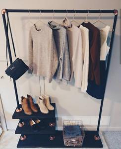 Hand made clothing rack