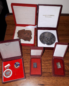 Cool collection of vintage Polish service awards