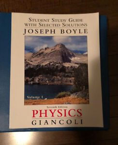 Solutions study Guide for physics by Giancoli 7th edition
