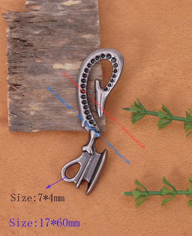 Mirror polishing Metal Fob Silvery Belt clip key wallet chain ring Holder U hook