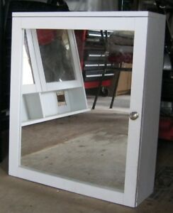 Medicine Cabinet with Mirror and 2 Shelves