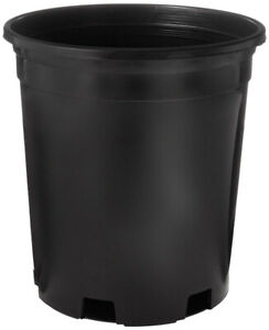 1 Gallon Plastic  Nursery Grow Pot with Plastic Saucer