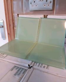 340 glass tiles, light green colour