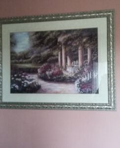 REDUCED! Betsy Brown The Rose Garden'  Framed
