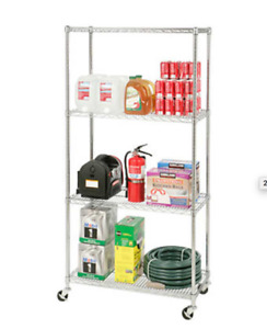 Commercial Chrome Shelving Units