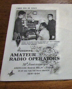 1964 US Amateur Radio Operators 5 Cent First Day Cover Kitchener / Waterloo Kitchener Area image 3