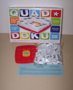 2009 Cadaco QUAD DOKU Tile Laying Word Game 2 to 4 Players
