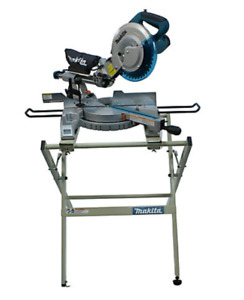 "Makita 10"" Sliding Mitre Saw with Stand and Blades"