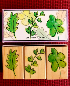 Rubber Stamp set by Hero Arts called Artistic Leaves