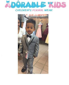 Gray Suit and tuxedo for Boys