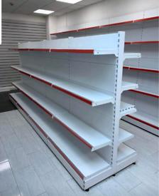 Shop shelving wall and gondola (new)