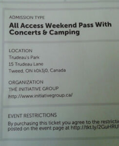 Glorious Sons concert & All Access camping @ Trudeau Park