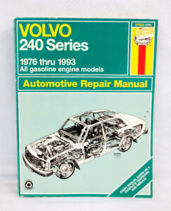 Haynes Auto Repair Manual Volvo 240 Series 1976-93