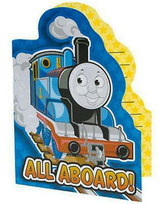 Thomas The Train All Aboard Die Cut Party Invitations 8 Ct Birthday Supplies New