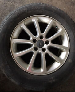 For sale set of 4 rims and tires 245/60/R18. It comes with 2009