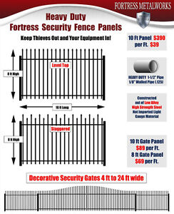 Security Fencing Panels & Gates for Industrial or Res - $39 /ft