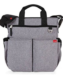 Skip Hop Messenger Diaper Bag With Matching Changing Pad