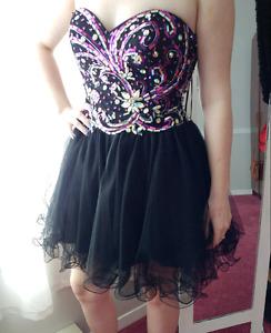 Black strapless Grad/Prom Dress
