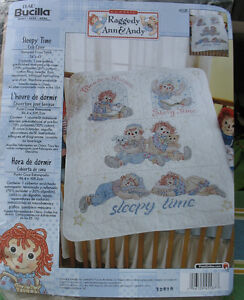 Raggedy Ann & Andy  Crib Cover Quilt  Kit
