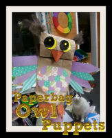 Little Amigos - Recycled Art Paperbag Owl Puppet