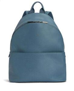 Brand New Matt + Nat Vegan Leather Dwell Backpack Blue Azure