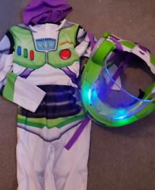 Buzz Lightyear Halloween/Dress Up Costume & Helmet 7-8 years