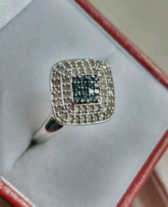 Sterling silver diamond ring size 7 with appraisal