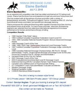 Dressage Clinic with Elaine Banfield - July 2, 2018