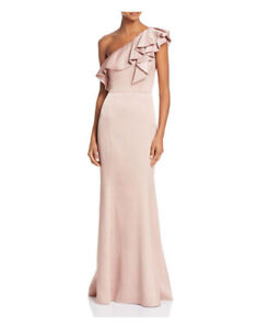 c7060881be PROM WEDDING PARTY Ruffled One-Shoulder Satin Gown Dress