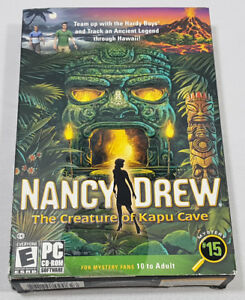 NANCY DREW THE CREATURE OF KAPU CAVE PC SOFTWARE AGES 10