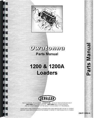 Owatonna 1200 1200a Skid Steer Loader Parts Manual Catalog