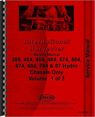 Ih International Service Manual 385 454 464 484 574 584 674 784 87 Hydro Chassis