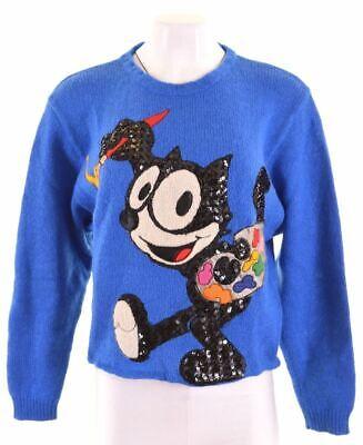 J.C. DE CASTELBAJAC ICEBERG Womens Jumper Sweater IT 42 Medium Blue  KS02