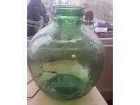 Vintage Large Green Glass Viresa Carboy Bottle