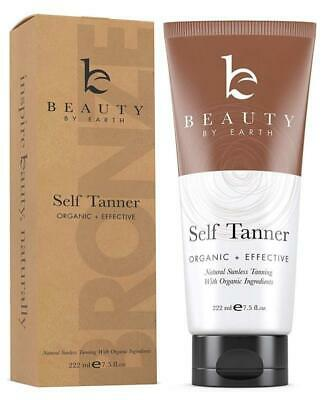 Self Tanner - Organic And Natural Ingredients Sunless Tanning Lotion And