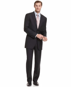Alfani RED Men's Black Suit (Jacket & Pants) Slim Fit