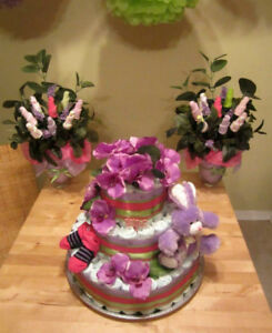CUSTOM MADE DIAPER CAKES AND DECORATIONS!!!