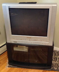 """Panasonic 27"""" Flat Screen TV with Built in DVD and VHS Player"""