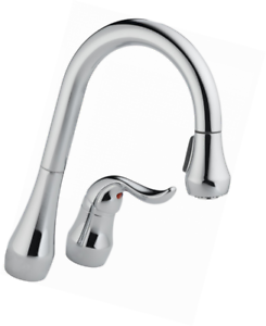 Peerless P188102lf Single Handle Pull Down Kitchen Faucet Polished