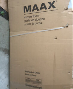 Brand New MAAX Glass Shower Door - Garage Clean Up sale