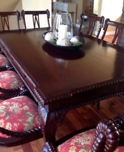 Antique Dining Table/10 Chairs - $ REDUCED