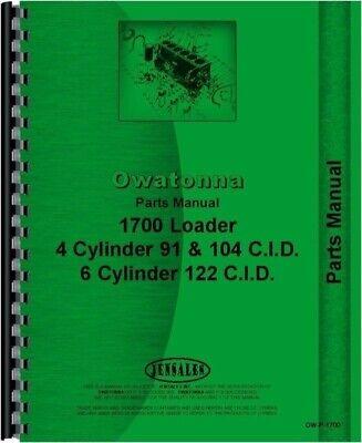 Owatonna 1700 Skid Steer Loader Parts Manual Catalog