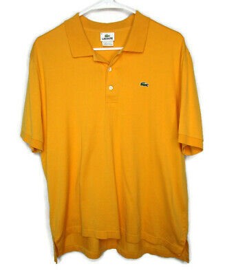 Lacoste Men's Polo Shirt Size 6 Yellow Golf Shirt Cotton Short Sleeve