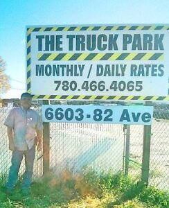 Commercial Truck Secure Parking - Monthly