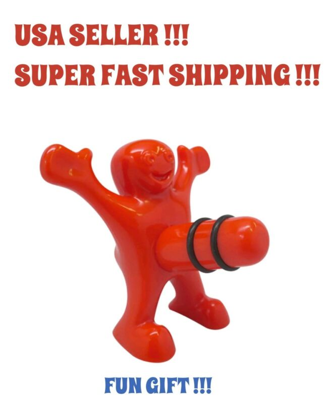 ERECT Willy Wine Bottle Stopper Fun Novelty Gag Happy Man Will Plug Your Hole