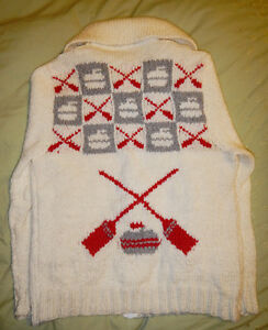 New Curling Sweaters in Vintage pattern