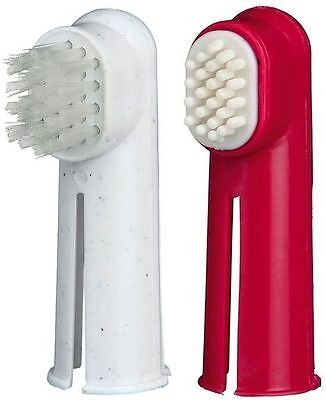 Trixie Finger Toothbrush Set Dogs & Cats Toothbrush & Massage Brush Clean Teeth